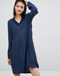 Just Female Laura Smock Dress Blue