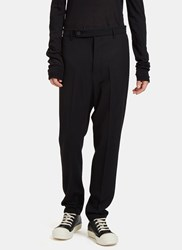 Rick Owens Astaires Straight Leg Pants Black