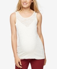 A Pea In The Pod Maternity Lace Tank Top Egrret