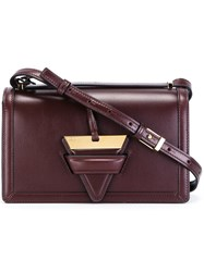 Loewe Triangle Clasp Cross Body Bag Red