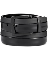 Kenneth Cole Reaction Cut Round Belt Black Blac