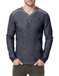 Buffalo David Bitton Warenty Henley Sweater Whale