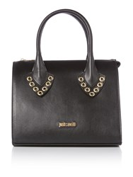 Just Cavalli Black Mini Tote Bag With Studs Black