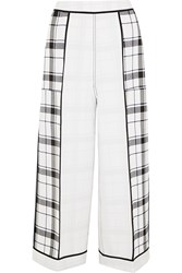Acne Studios Odette Checked Crepe Wide Leg Pants