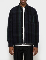 Sacai Shirt In Navy Black Green Navy Black