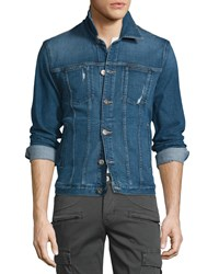Hudson Jeans Garrison Arcade Denim Jacket Blue Men's