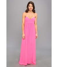 Amanda Uprichard Gown Hibiscus Women's Dress Pink