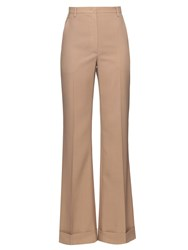 Nina Ricci Wide Leg Turn Up Wool Trousers