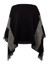 Replay Mohair Poncho Black