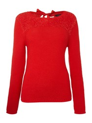 Therapy Fluffy Tie Back Jumper Red