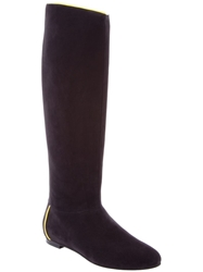 Aperlai Flat Knee High Boots Black