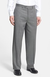 Linea Naturale Men's Big And Tall 'Tic Weave' Super 100S Wool Trousers
