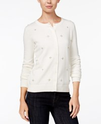 Tommy Hilfiger Marilyn Embellished Cardigan Only At Macy's Snow White