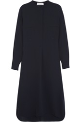 Studio Nicholson Robinson Wool Crepe Shirt Dress