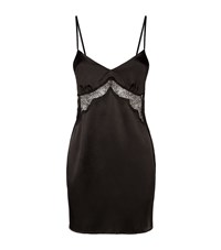 Gilda And Pearl Lace Panel Chemise Female Black