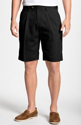Men's Big And Tall Cutter And Buck Double Pleated Microfiber Twill Shorts Black