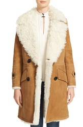 Burberry Women's Candleton Removable Collar Genuine Shearling Jacket