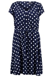 Dorothy Perkins Curve Billieandblossom Jersey Dress Navy Blue Dark Blue