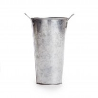 5.75' Galvanized French Floral Bucket