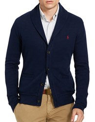 Polo Ralph Lauren Shawl Collar Cotton Cardigan Cruise Navy
