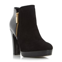 Dune Oscar Side Zip Ankle Boots Black