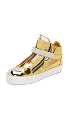 Giuseppe Zanotti Leather Sneakers Gold