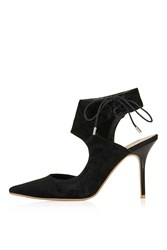 Topshop Gallery Asymetric Court Shoes Black