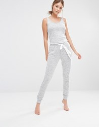 New Look Cut And Sew Vest Jumpsuit Light Grey