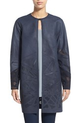 Women's Elie Tahari 'Melody' Laser Cut Leather Topper