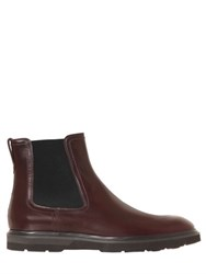 Tod's Brushed Leather Chelsea Boots