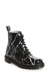 Dr. Martens Women's 'Pascal Marble' Boot Black Patent Marble