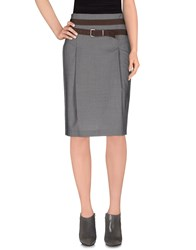 Gunex Skirts 3 4 Length Skirts Women Grey
