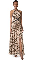 L'agence Marvella Contrast Maxi Dress Chanterelle Combo