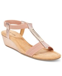 Alfani Women's Vacay Wedge Sandals Only At Macy's Women's Shoes Rose Gold
