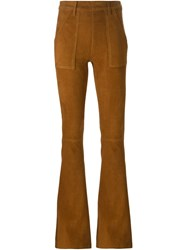 Frame Denim Bootcut Trousers Brown