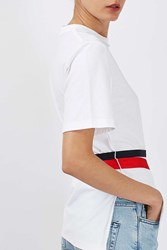 Boutique Belted Taped Tee By White