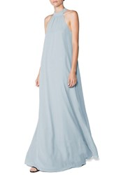 Women's Ceremony By Joanna August 'Elena' Halter Style Chiffon A Line Gown