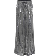 Mcq By Alexander Mcqueen Sequinned Trousers Silver