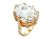 Guess Faceted Marquis Stone Prong Ring Set Gold Crystal Ring