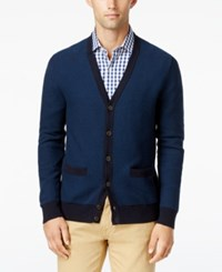 Tommy Hilfiger Men's Tobin Cardigan Mg Blue Midnight