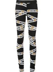Moschino Underbear Tape Leggings Black
