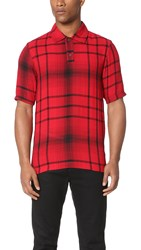 Mcq By Alexander Mcqueen Relaxed Polo Red Tartan