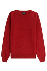 A.P.C. Wool Cashmere Pullover Red