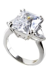 Cz By Kenneth Jay Lane Square And Trillion Cut Cz Ring No Color