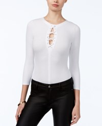 Guess Arya Lace Up Bodysuit Scuffy