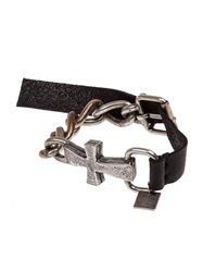 Goti Chunky Cross Bracelet Black