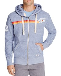 Superdry Sun And Surf Barrel Zip Hoodie Ensign Blue Heather