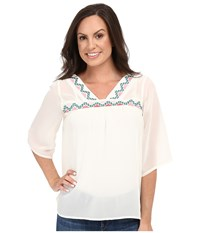 Cruel Chiffon Peasant Top Cream Women's Clothing Beige