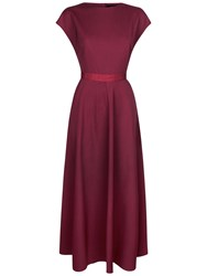 Jaeger Fit And Flare Dress Winter Berry