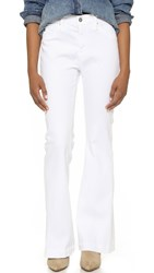 Ag Jeans The Petite Janis Flare Jeans White